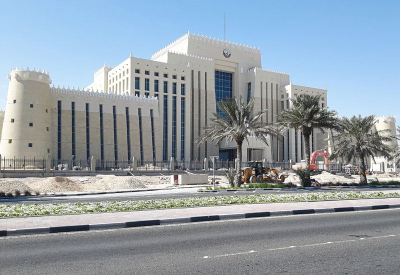 The huge, sprawling Ministry of Interior building along the Corniche is void of any Western influence in its architecture.