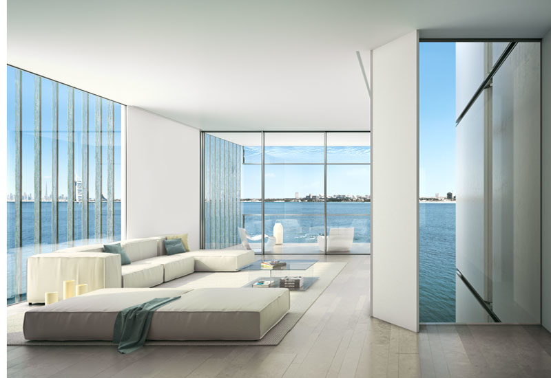 Artists' impression of a front room of one of the apartments at Muraba's Palm Jumeirah project
