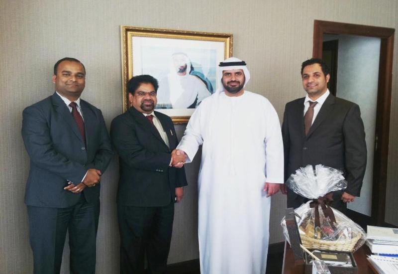 L-R: Nuberg Engineering AGM Mr. D. Sahu and chairman AK Tyagi with Al Ghaith Industries chairman Mr. Ali Hamel , and GM Almamoon Al Baadani.