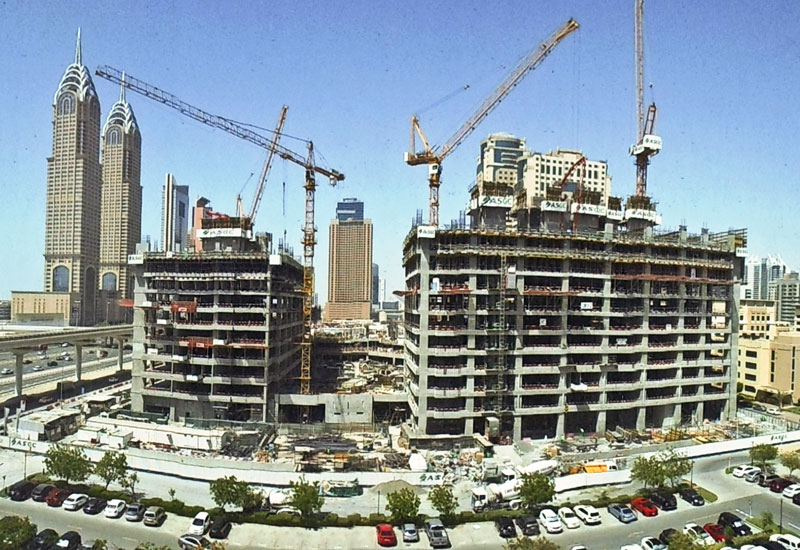 All three of the complex's towers are being worked on simultaneously, with the structure due to complete by November.