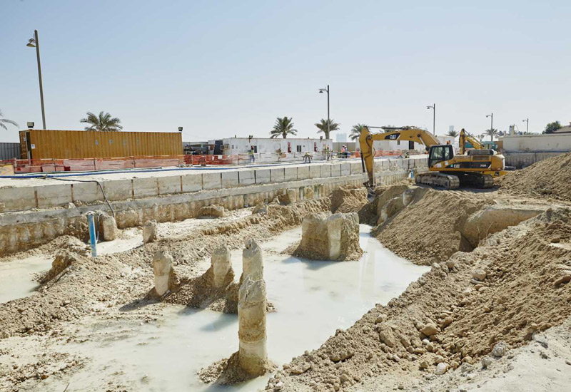 Excavation work is underway at  the project site.