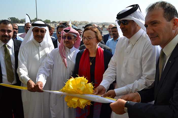 Ambassador of the Federal Republic of Germany to Qatar H.E. Mrs. Angelika Storz-Chakarji led the roster of guests during the opening ceremony.