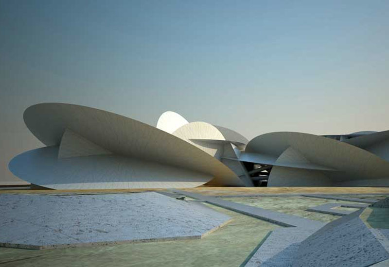 CGI of Qatar National Museum, which is being built by Hyundai E&C