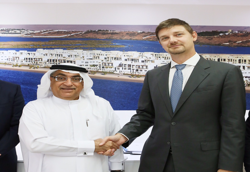 Mohammed Sultan Al Qadi MD and CEO RAK Properties with Travis White, director of business development Minor Hotel Group.