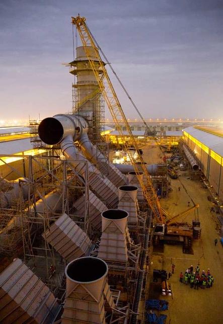 Ras Al Khair Aluminium Smelter. Photo: Bechtel