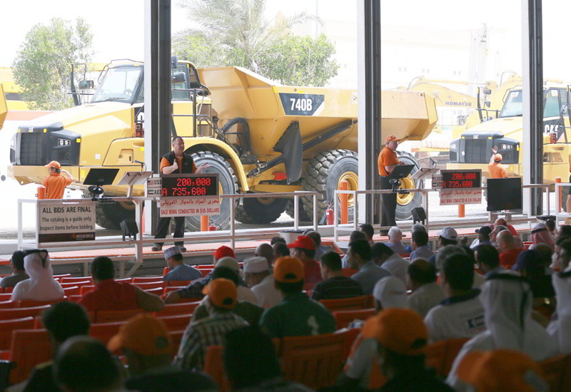 More than 1,900 items of heavy equipment and trucks will be sold during Ritchie Bros' Dubai sale, which will take place today and tomorrow.