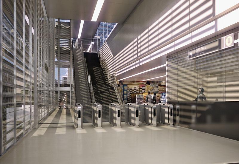 CGI of proposed Riyadh Metro station
