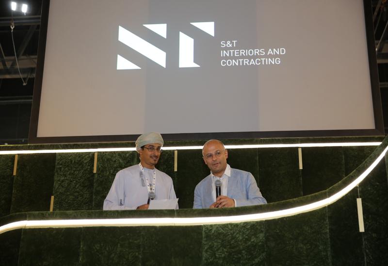 (L to R) - Waqas Al Adawi Vice Chairman ST and Mr Vagan Oganian Managing Director InteriorPlus announce JV partnership at Hotel Show Dubai 2015.