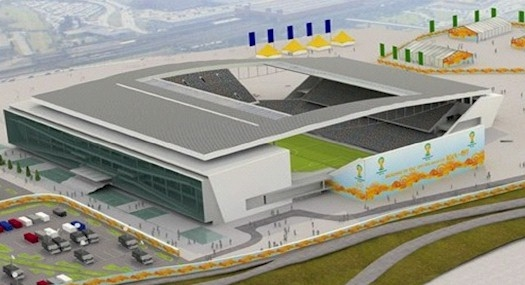 A computer generated image of the new Sao Paulo stadium