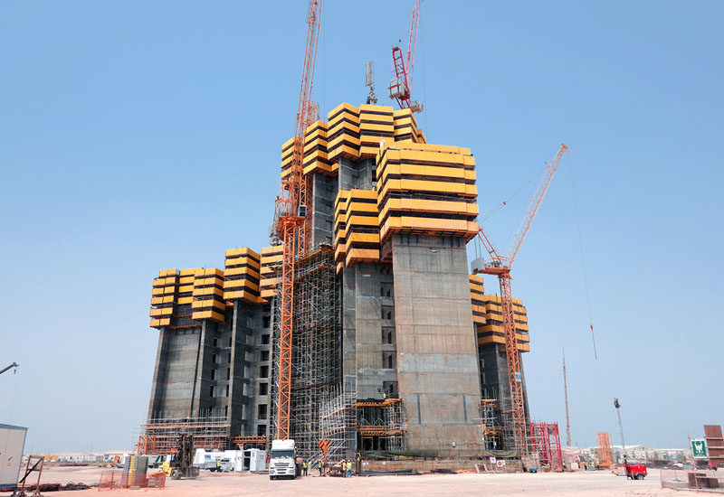 Schwing Stetter's pump units and operations at the base of the Kingdom Tower, as of September 2015.