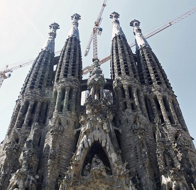 Barcelona's La Sagrada Familia Basilica is in it's final stages of construction.