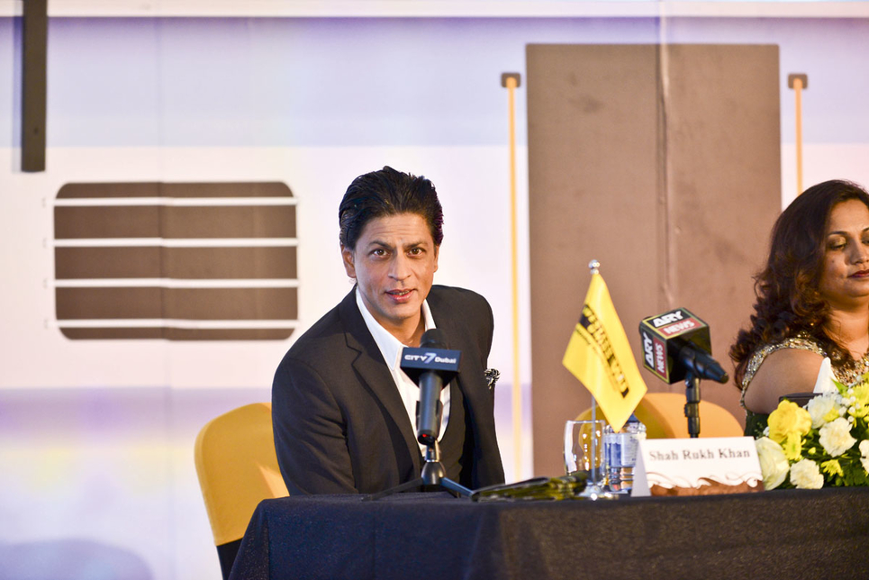 Bravo for Bollywood: Shah Rukh Khan (right) is one of many celebrities to lend his name to a Dubai property development.