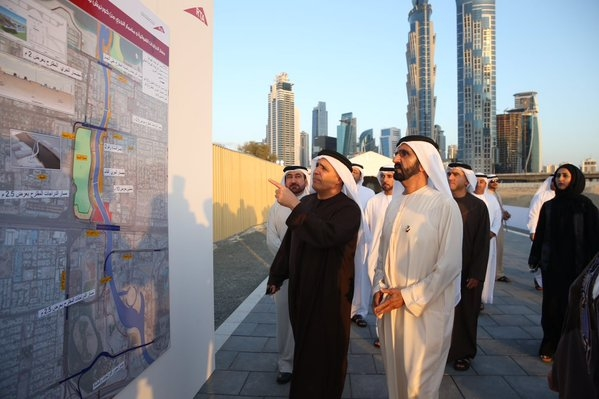HH Sheikh Mohammed also reviewed the designs and models of three pedestrian bridges. [Image: Twitter/DXBMediaOffice]