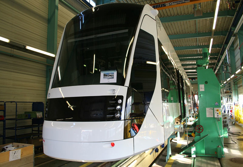 First of the Avenio tram bodies completed for Education City project