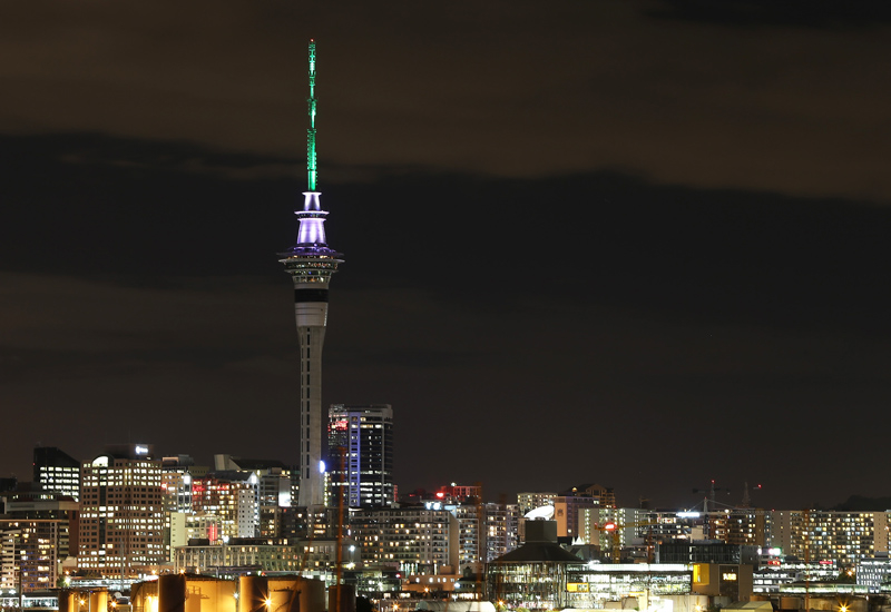At 328m in height, Aukland's Sky Tower is the tallest manmade structure in New Zealand.
