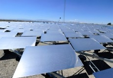 It is hoped the traditional solar panels (pictured) will be superseded by new coloured solar glass