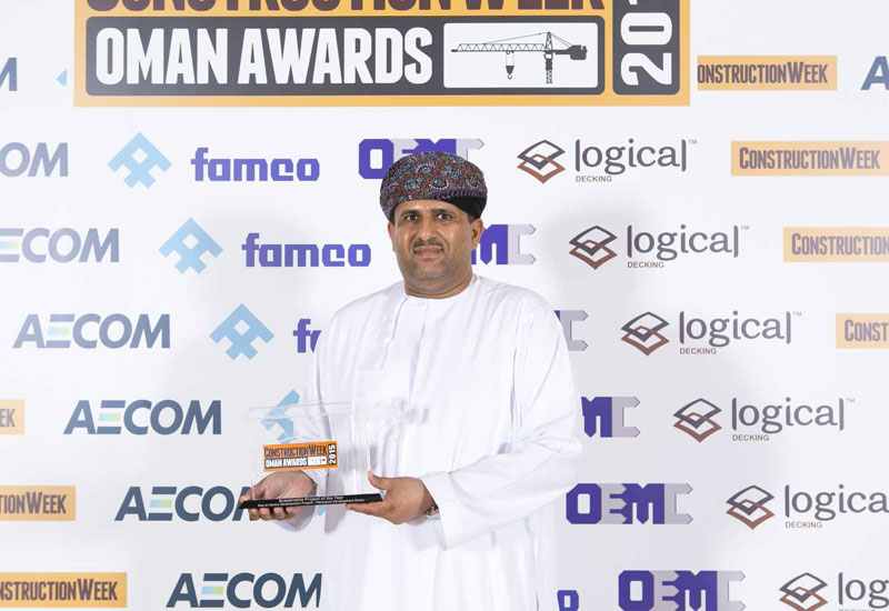 PDO's Ahmad Shaibani with the Sustainability trophy