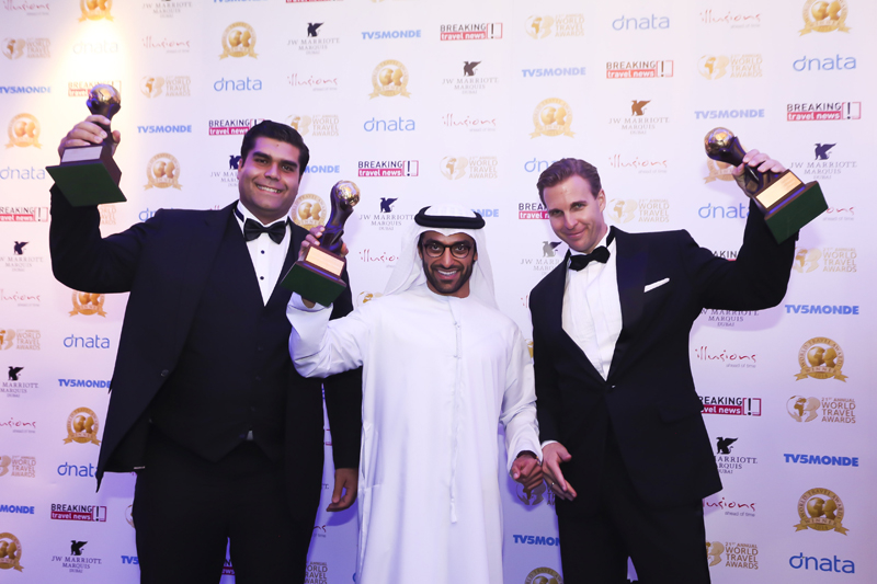 Nehme Darwiche, Chief Executive Officer of Eastern Mangroves Promenade Suites by Jannah; Mohamed Al Awadhi, TDIC; and Patrick Both, General Manager of