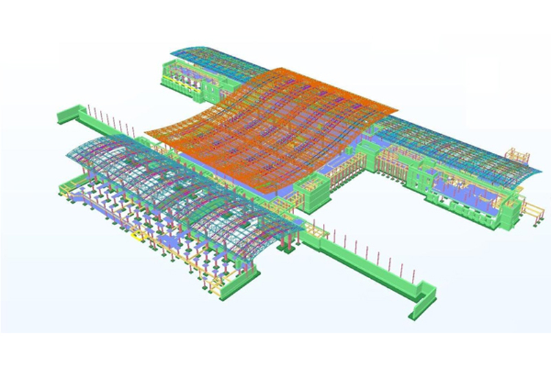 Tekla BIM 3D model of Salalah Airport (passenger terminal building)