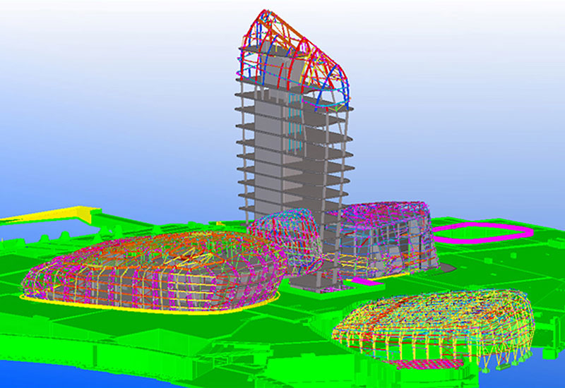 The 3D models created through BIM help to avoid design clashes.
