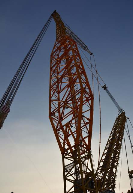 The Terex Boom Booster can increase the lift capacity of the CC 8800-1 crawler crane by up to 90%.