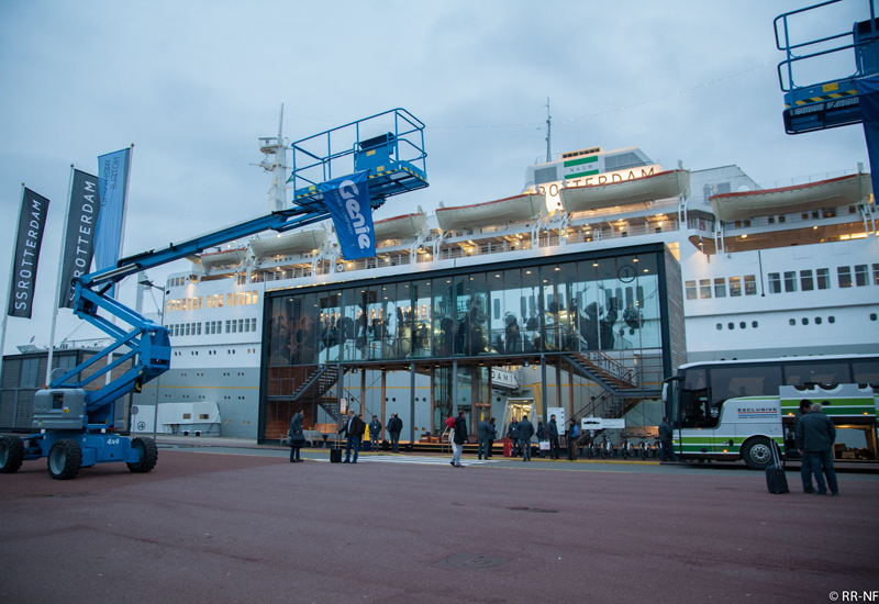 The SS Rotterdam, which has recently been restored and transformed into a hotel and conference centre, played host to Terex AWP's 'At Your Service' su