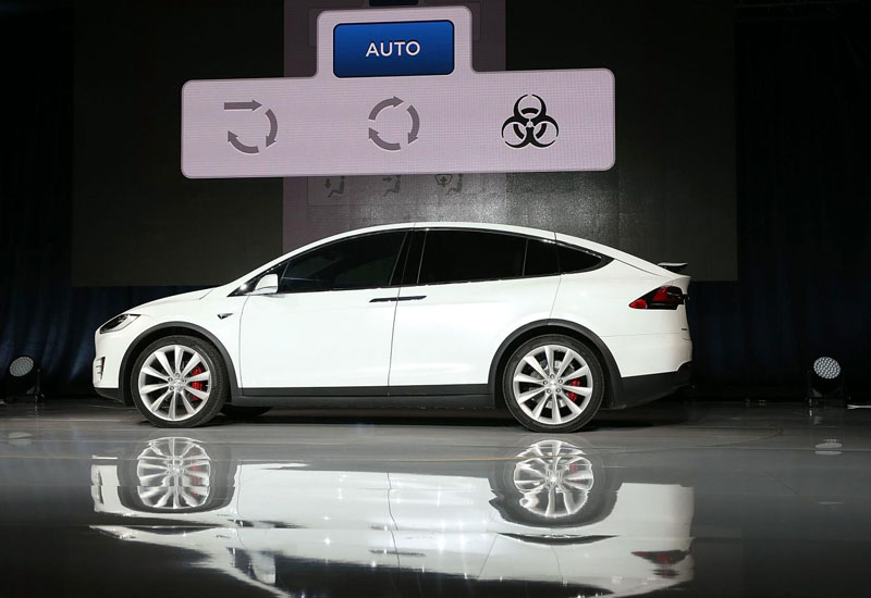 Tesla's Model X will protect against biohazard threats, including urban pollution.