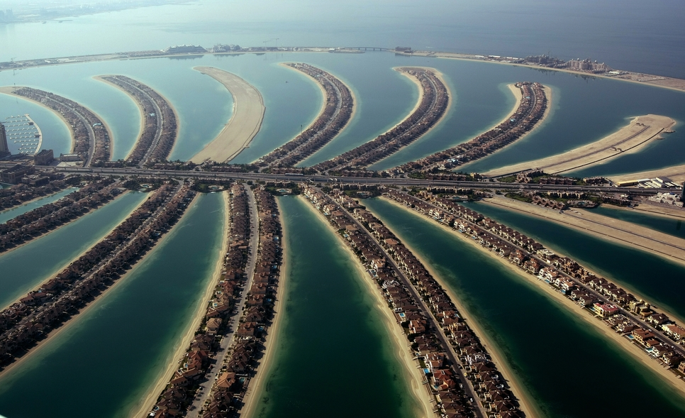 Apartment values dropped by 2.5% at Palm Jumeirah.