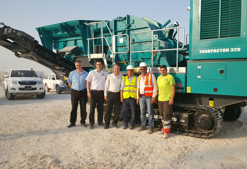 Powerscreen, ARACO and Al Mohsen attend the delivery of six units.