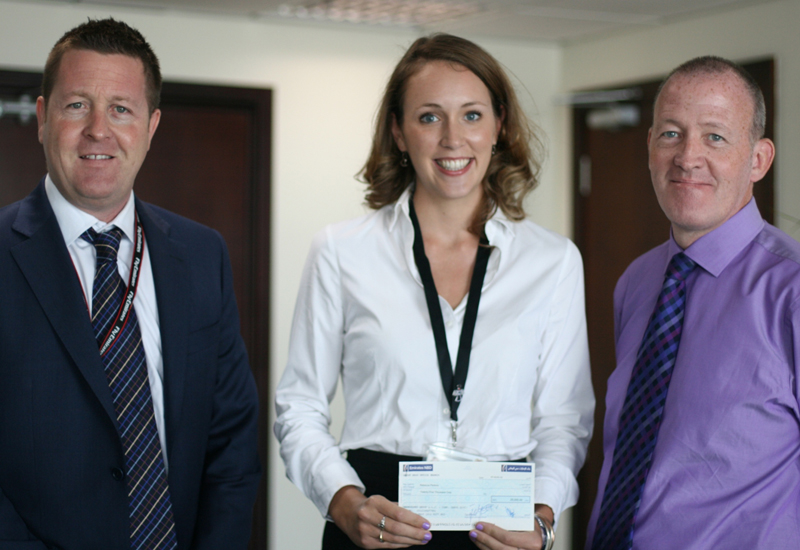 (left-to-right) Transguard Group's John Nolan, Rebecca Perkins and Alastair Johnstone.