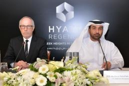 Peter Fulton, group president Europe, Africa, Middle East and Southwest Asia, Hyatt Hotels and Resorts and HE Hesham Abdullah Al Qassim, CEO of wasl A