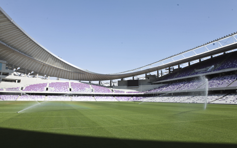 The sprinkler system was specially installed by a sub-contractor that has also worked on Real Madrid's Bernabeu Stadium.