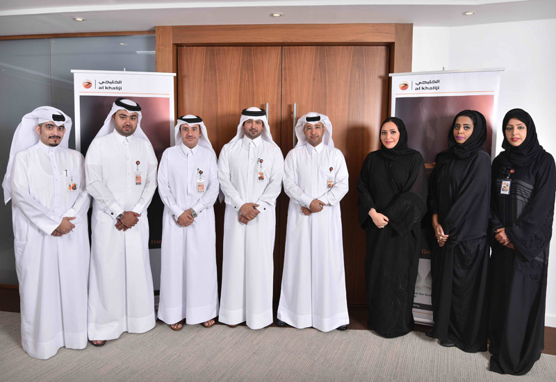 Group photograph of Al Khalij Commercial Bank personnel.