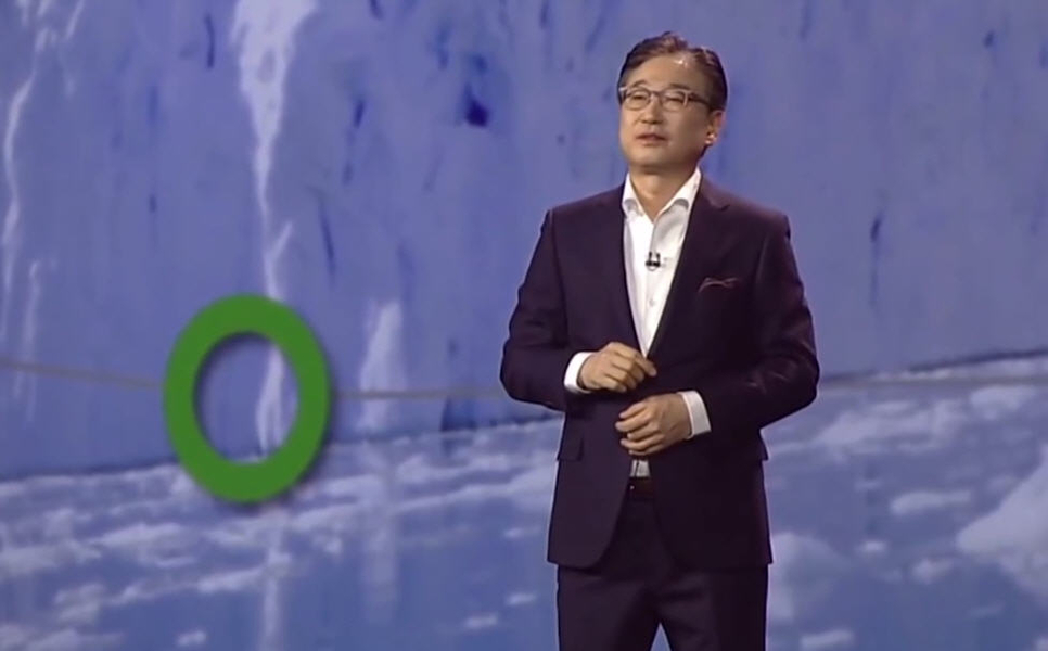 BK Yoon, president and CEO of consumer electronics at Samsung Electronics