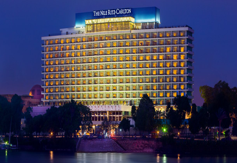 The company renovated the hotel's terrace restaurant that overlooks the Nile.