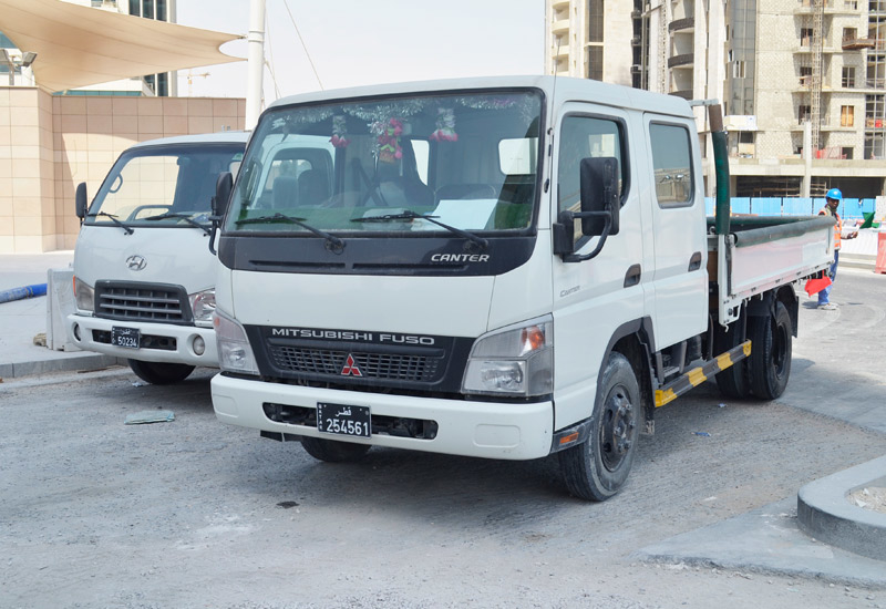 The Fuso Canter is cornering the construction sector in Qatar, where the vehicles are a common sight throughout the country.