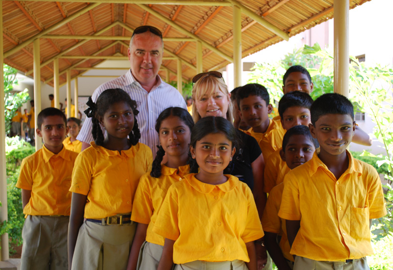 For a better future: The Transguard Group is a supporter of the Christel House School for underprivileged children in Bangalore, India.
