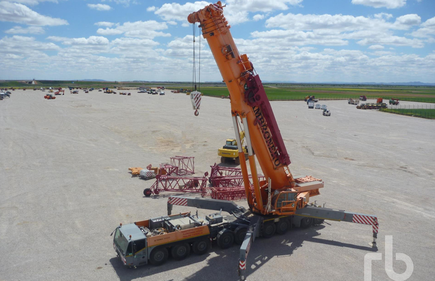 A large number of high value cranes were sold at the Spain auction.