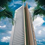 Sky Gardens towers in Dubai's International Financial Centre district.