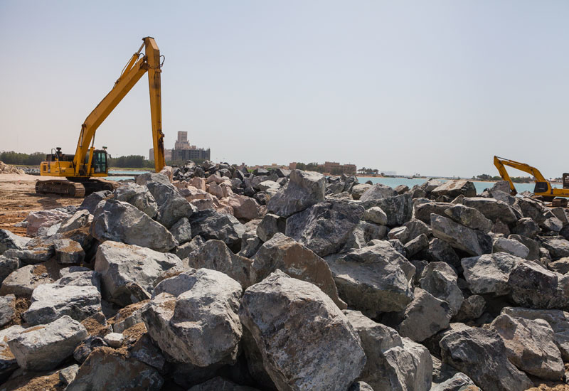 Construction on Falcon Island began in March this year.