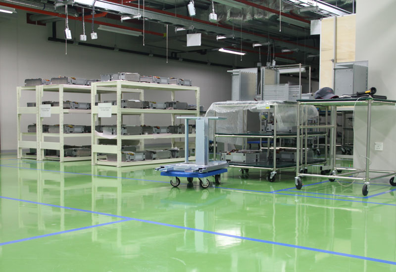 The anti-static flooring will aid in achieving surface regularity and ensuring consistent accurate readings from onsite equipment.