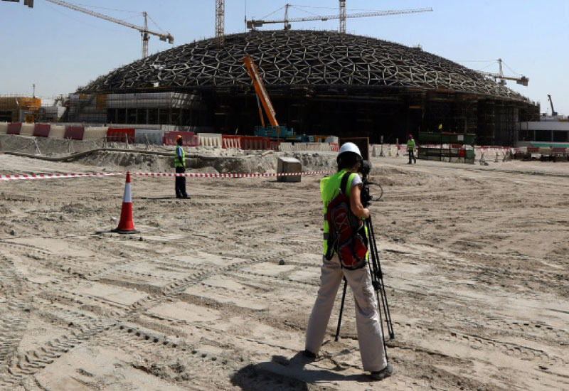 The first of three museums being built on Saadiyat island will complete this year.