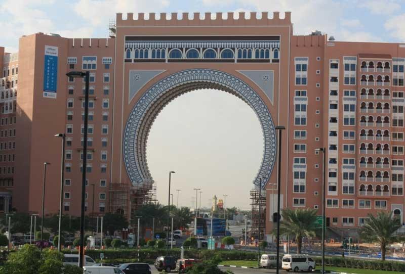The iconic Ibn Battuta Gate.