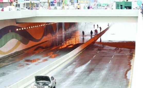 Jeddah witnessed heavy rain last week. [Image: Arab News]