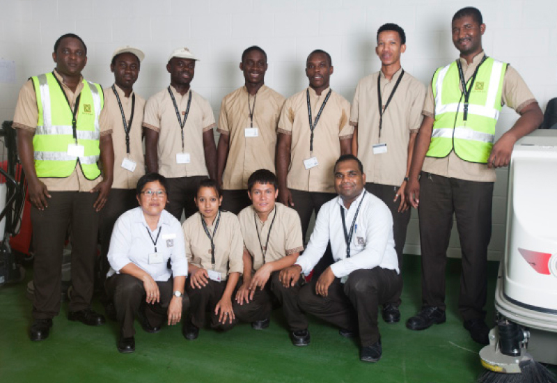 A selection of the Khidmah team working at the Al Zeina Community.