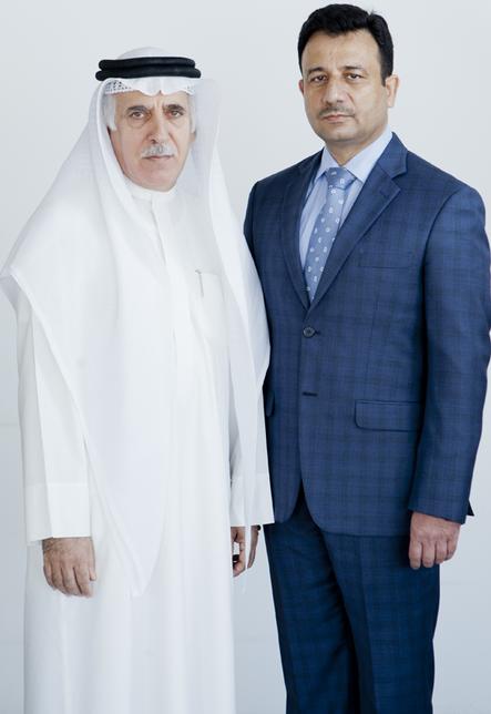 Mahmood Kooheji, vice chairman of AJM Kooheji Group, and Sanjeev Awasthi, chief operating officer.