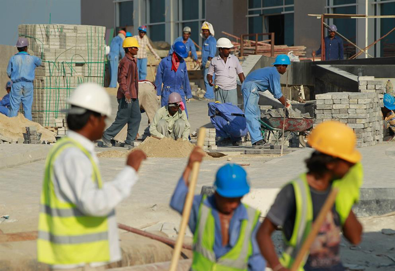 Work sites violating Qatar's labour law were shut down.