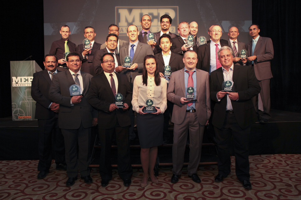 The winners of the 2012 MEP Middle East awards.