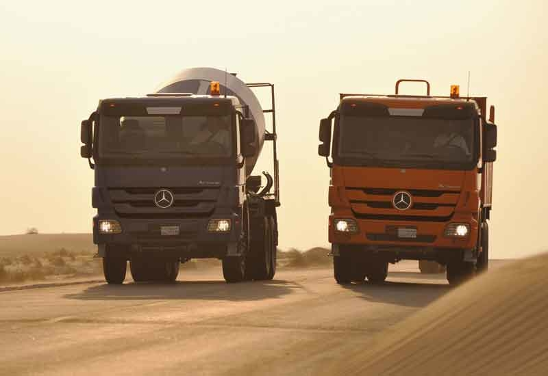 Ghantoot Contracting's fleet of Actros units will be delivered within 2015. [Representational image]
