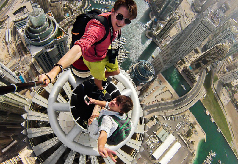 Princess Tower in Dubai Marina was just one of the buildings which the climbers scaled.